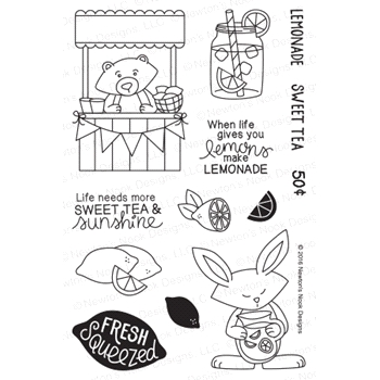 Newton's Nook Designs FRESHLY SQUEEZED Clear Stamp Set 20160703
