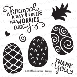 Newton's Nook Designs PINEAPPLE DELIGHT Clear Stamp Set 20160706