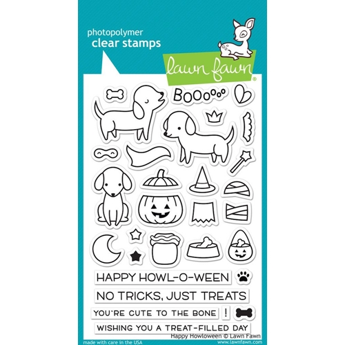 Lawn Fawn HAPPY HOWLOWEEN Clear Stamps LF1206 Preview Image