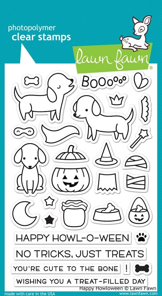 Lawn Fawn HAPPY HOWLOWEEN Clear Stamps LF1206 zoom image