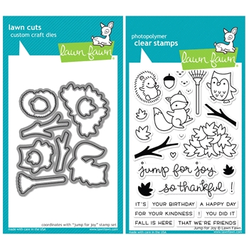 Lawn Fawn SET SULF16SETJFJ JUMP FOR JOY Clear Stamps and Dies