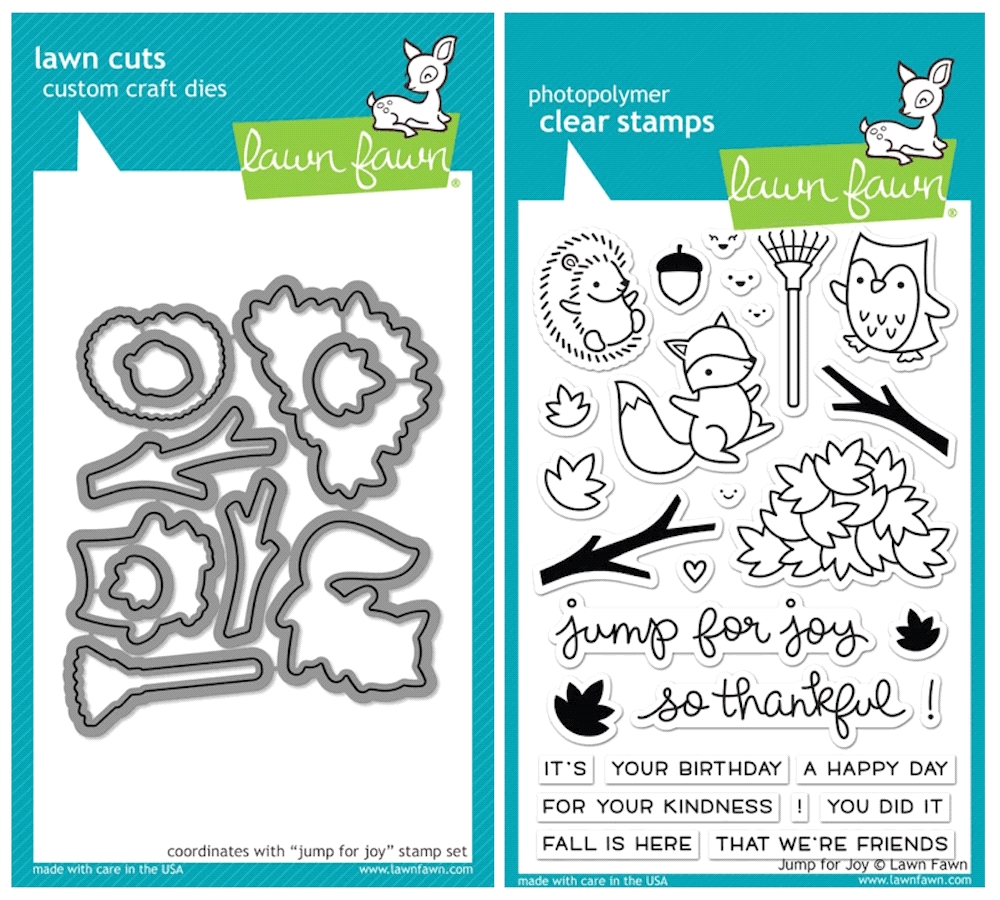 Lawn Fawn SET SULF16SETJFJ JUMP FOR JOY Clear Stamps and Dies zoom image