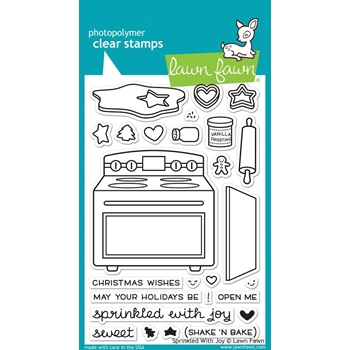 Lawn Fawn SPRINKLED WITH JOY Clear Stamps LF1214