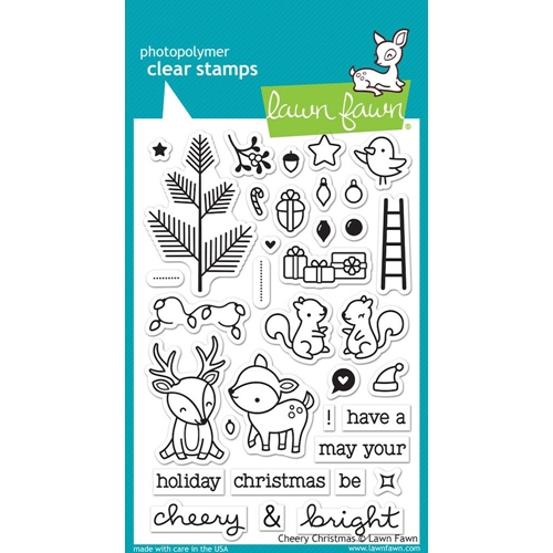 Lawn Fawn CHEERY CHRISTMAS Clear Stamps LF1216 Preview Image