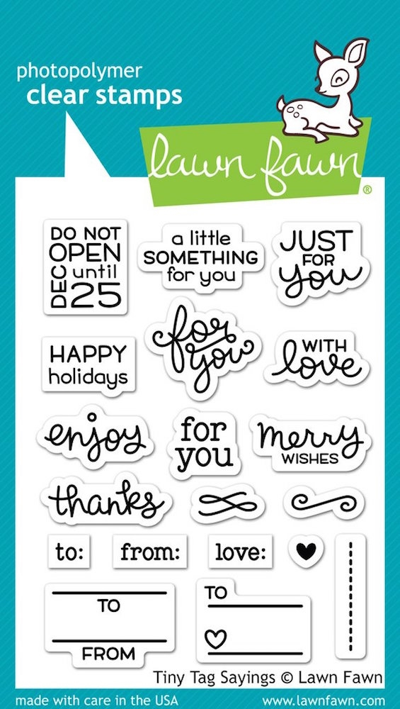 Lawn Fawn TINY TAG SAYINGS Clear Stamps LF1222 zoom image