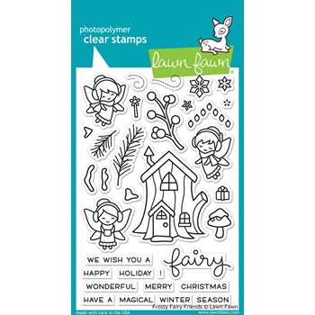 Lawn Fawn FROSTY FAIRY FRIENDS Clear Stamps LF1224