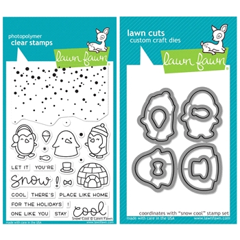 Lawn Fawn SET SULF16SETSC SNOW COOL Clear Stamps and Dies