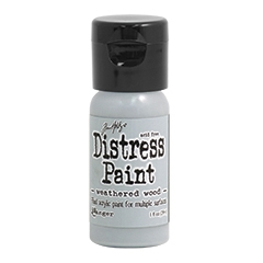 RESERVE Tim Holtz Flip Top Distress Paint WEATHERED WOOD Ranger TDF53378
