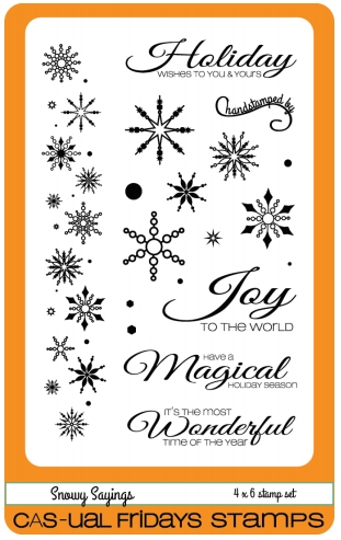 CAS-ual Fridays Snowy Sayings Clear Stamp Set