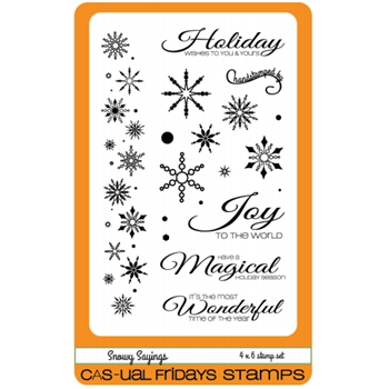 CAS-ual Fridays SNOWY SAYINGS Clear Stamps CFS1609