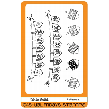 CAS-ual Fridays SPIN THE DREIDEL Clear Stamps CFS1610