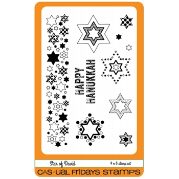 CAS-ual Fridays STAR OF DAVID Clear Stamps CFS1611