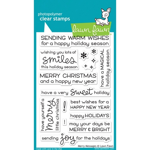 Lawn Fawn MERRY MESSAGES Clear Stamps LF1230 Preview Image
