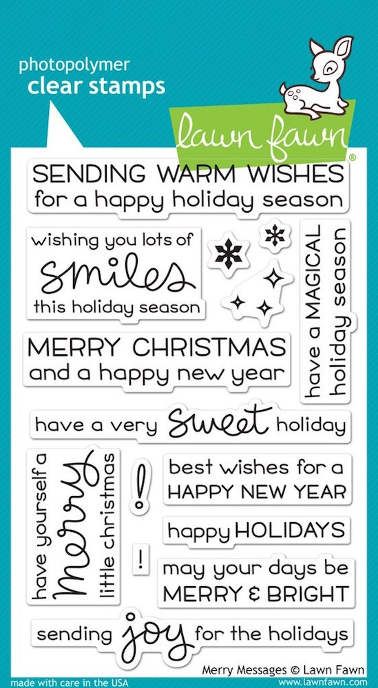 Lawn Fawn MERRY MESSAGES Clear Stamps LF1230 zoom image