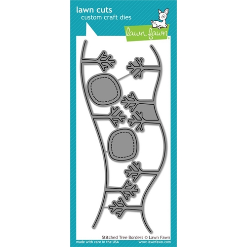 Lawn Fawn STITCHED TREE BORDERS Lawn Cuts Dies LF1236 Preview Image