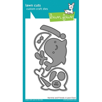 Lawn Fawn NARWHAL AND FRIENDS Lawn Cuts Dies LF1263