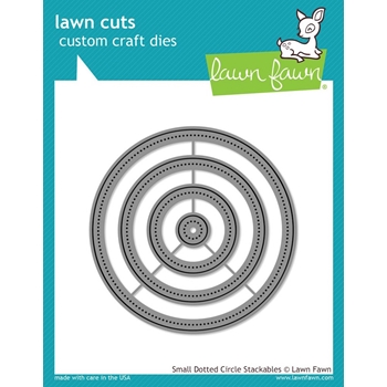 Lawn Fawn SMALL DOTTED CIRCLE STACKABLES Lawn Cuts Dies LF1278