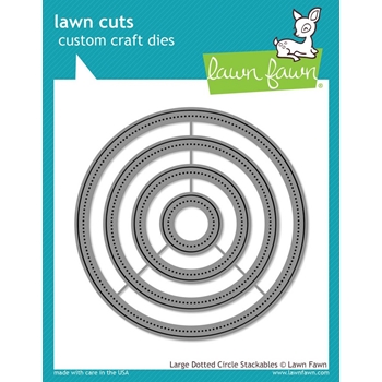 Lawn Fawn LARGE DOTTED CIRCLE STACKABLES Lawn Cuts Dies LF1279