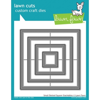 Lawn Fawn SMALL DOTTED SQUARE STACKABLES Lawn Cuts Dies LF1280