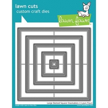 Lawn Fawn LARGE DOTTED SQUARE STACKABLES Lawn Cuts Dies LF1281