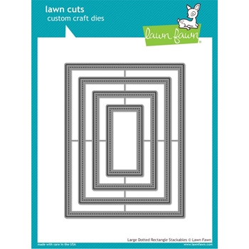 Lawn Fawn LARGE DOTTED RECTANGLE STACKABLES Lawn Cuts Dies LF1283