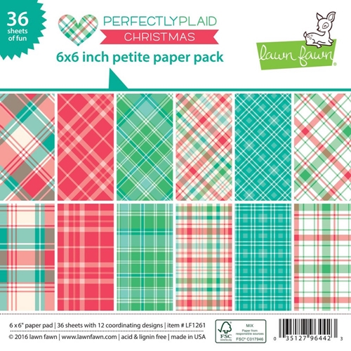 Lawn Fawn PERFECTLY PLAID CHRISTMAS Petite 6x6 Paper Pack LF1261 Preview Image