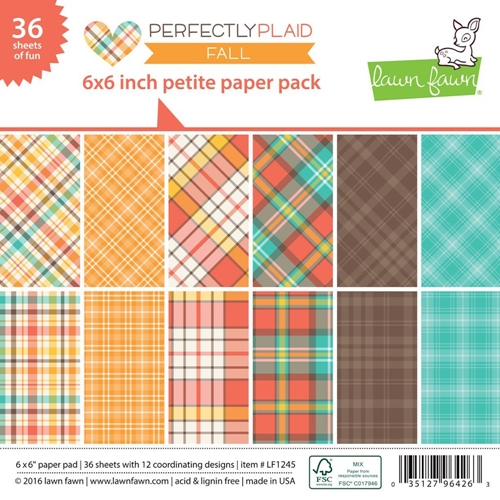 Lawn Fawn PERFECTLY PLAID FALL Petite 6x6 Paper Pack LF1245 Preview Image