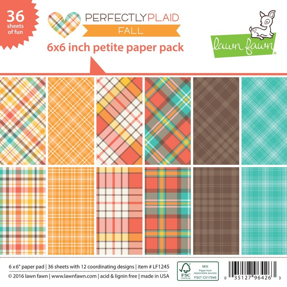 Lawn Fawn PERFECTLY PLAID FALL Petite 6x6 Paper Pack LF1245 zoom image
