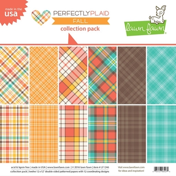 Lawn Fawn PERFECTLY PLAID FALL 12x12 Collection Pack LF1246