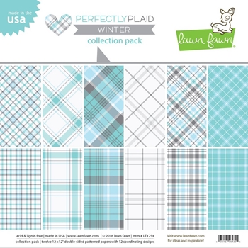 Lawn Fawn PERFECTLY PLAID WINTER 12x12 Collection Pack LF1254