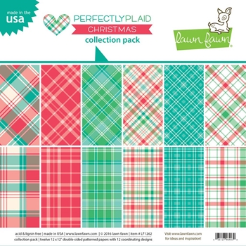 RESERVE Lawn Fawn PERFECTLY PLAID CHRISTMAS 12x12 Collection Pack LF1262