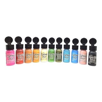 RESERVE Tim Holtz FLIP TOP DISTRESS PAINT SET Ranger RANGER92