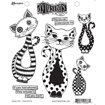 Dyan Reaveley PUDDY CAT Dylusions Cling Stamp Set DYR53675