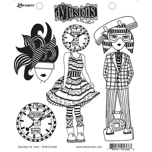 Dyan Reaveley PASSAGE OF TIME Dylusions Cling Stamp Set DYR53668 Preview Image