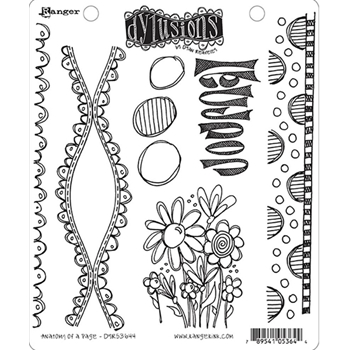 Dyan Reaveley ANATOMY OF A PAGE Dylusions Cling Stamp Set DYR53644