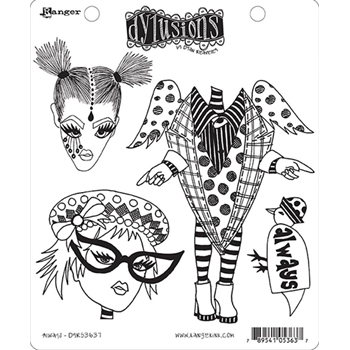 Dyan Reaveley ALWAYS Dylusions Cling Stamp Set DYR53637