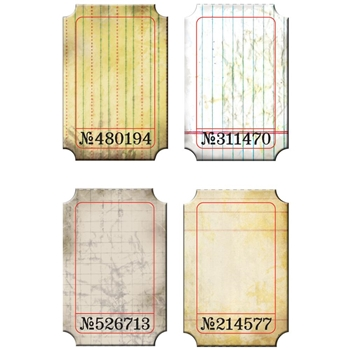 Tim Holtz Idea-ology JOURNALING TICKETS Altered Vintage Paper  TH92732