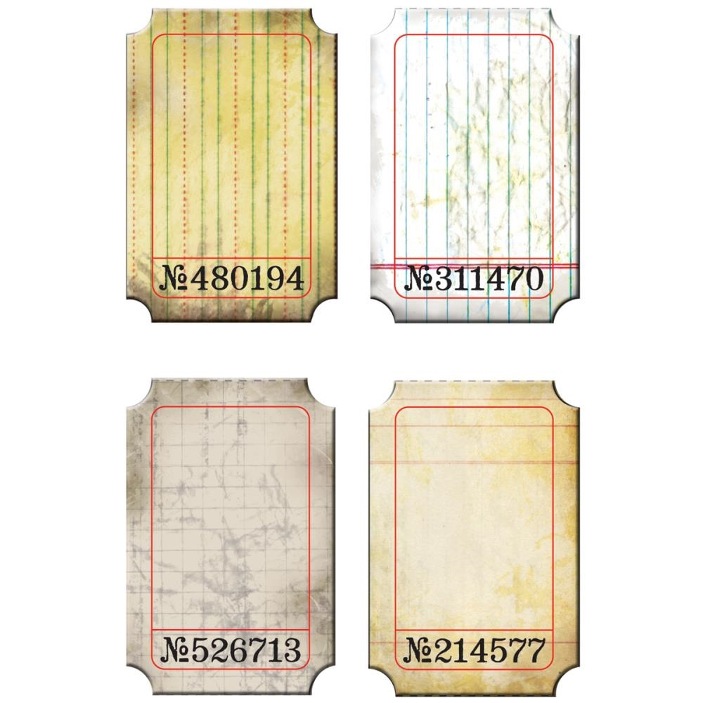 Tim Holtz Idea-ology JOURNALING TICKETS Altered Vintage Paper  TH92732 zoom image