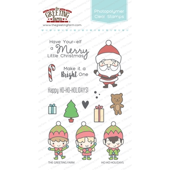The Greeting Farm HO HO HOLIDAYS Clear Stamps TGF265