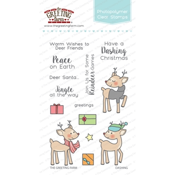The Greeting Farm DASHING Clear Stamps TGF263