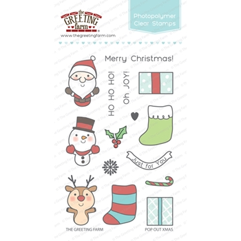 The Greeting Farm POP OUT CHRISTMAS Clear Stamps TGF261