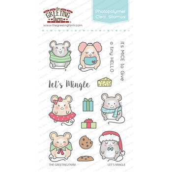 The Greeting Farm LET'S MINGLE Clear Stamps TGF259