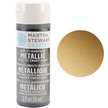 Martha Stewart GOLD 2oz Multi-Surface Metallic Acrylic Paint 32103
