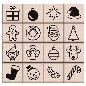 Hero Arts Rubber Stamp HOLIDAY ICONS LP413