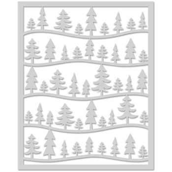 Hero Arts Stencil FOREST SCENE SA078
