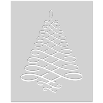Hero Arts Stencil CALLIGRAPHIC TREE SA077