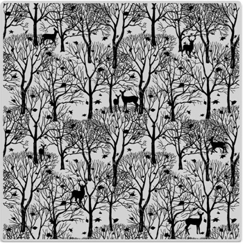 Hero Arts Cling Stamp FOREST AND DEER BOLD PRINTS CG700
