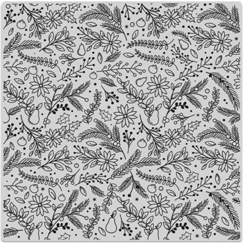 Hero Arts Cling Stamp HOLIDAY FLORALS BOLD PRINTS CG698