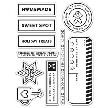 Hero Arts Clear Stamps KELLY'S HOLIDAY TREATS Clearly Kelly CL995