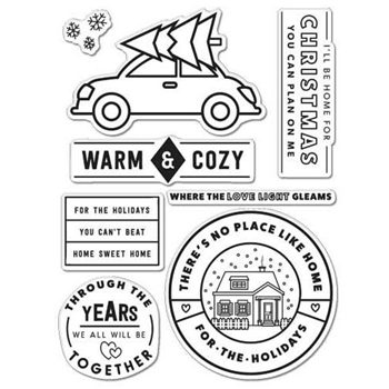 Hero Arts Clear Stamps KELLY'S WARM & COZY Clearly Kelly CL996